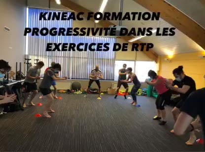 Kinéac Formation progressivité dans les exercices de RTP